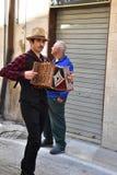 Пиршество St. Thomas, музыкант на шествии спасибо в Ortona, Abruzzoo стоковая фотография