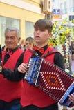 Пиршество St. Thomas, музыкант на шествии спасибо в Ortona, Abruzzoo стоковое фото rf