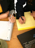 писание женщин команды дела Стоковое Фото