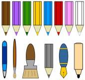 писание инструментов икон Иллюстрация штока