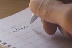Писание письма Стоковое Фото