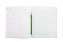 писание показателей книги Стоковая Фотография