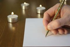 Писание стоковое фото