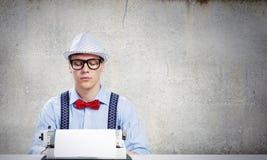 Писатель молодого человека Стоковое Изображение RF