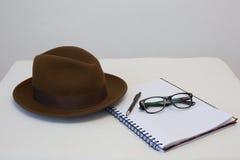 Писатель шляпы Fedora Стоковое Фото
