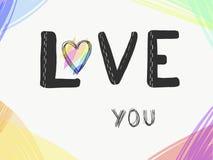 Писать любовь вы иллюстрация вектора