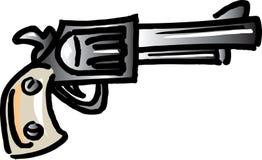 пистолет ковбоя Иллюстрация штока