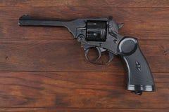 Пистолет обслуживания револьвера Верхн-перерыва Webley Mk IV для вооруженных сил страны Великобритании, и Британская империя и го стоковые изображения