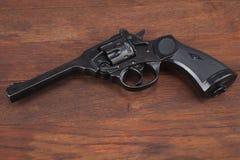 Пистолет обслуживания револьвера Верхн-перерыва Webley Mk IV для вооруженных сил страны Великобритании, и Британская империя и го стоковые изображения rf