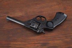 Пистолет обслуживания револьвера Верхн-перерыва Webley Mk IV для вооруженных сил страны Великобритании, и Британская империя и го стоковые фото