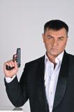 пистолет человека Стоковые Фото