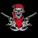 Пистолет черепа Стоковые Изображения