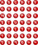 Письма алфавита в столице с номерами Стоковые Фото