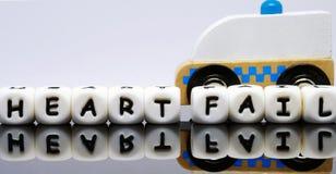 письма алфавита говоря терпеть неудачу по буквам сердца слов Стоковое Изображение