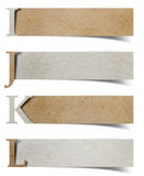Письма алфавита рециркулировали бумажный корабль Стоковые Изображения