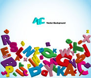 письма алфавита цветастые Стоковое Фото