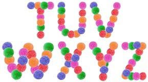 Письма алфавита конфеты студня стоковые фото
