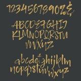 Письма алфавита: строчный, uppercase, номера элементы алфавита scrapbooking вектор Стоковое Фото