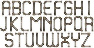 Письма алфавита трубы Стоковое Изображение