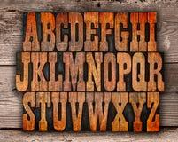 Письма алфавита Letterpress Стоковая Фотография RF