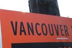 Письма Ванкувера афиша-черные Стоковое Изображение RF