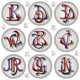 Письма вектора установленные для регистрации фирменного стиля и оформления изделия иллюстрация штока
