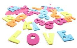 Письма влюбленности стоковое изображение rf