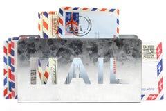 Письма воздушной почты стоковые фотографии rf