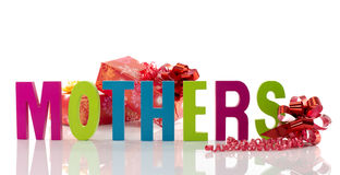 Текст на день матерей Стоковое Изображение