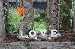 Письма говоря вне влюбленность по буквам слова Стоковые Фото