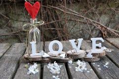 Письма говоря вне влюбленность по буквам слова Стоковые Изображения RF
