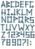 письма джинсыов ткани алфавита бесплатная иллюстрация