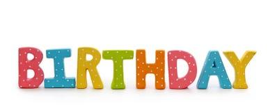 письма дня рождения стоковое изображение