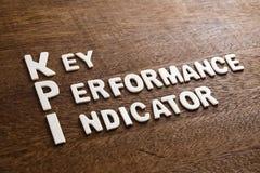 Письма древесины KPI Стоковые Фото