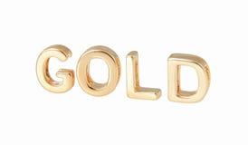 Письма золота стоковые изображения rf