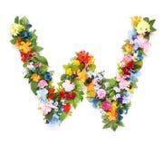 Письма листьев и цветков стоковая фотография