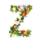 Письма листьев и цветков стоковое изображение rf