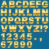 Письма и номера золота Стоковая Фотография RF