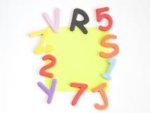 Письма и номера и цветы Стоковая Фотография