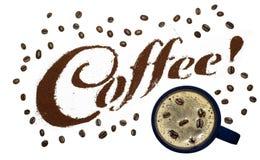 письма кофе стоковая фотография