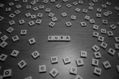 Письма Кубы Стоковое Изображение RF
