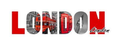 Письма Лондона, изолированные на белой предпосылке, путешествуют и туризм, Великобритания Стоковые Фото