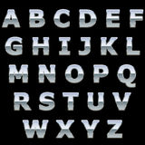 Письма металла крома глянцеватые Стоковые Фото