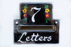 Письма металлической пластинкы 7 Стоковые Изображения