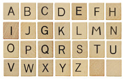 письма мелка доски алфавита Стоковое Изображение