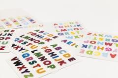 письма мелка доски алфавита Стоковые Изображения RF