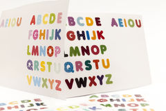 письма мелка доски алфавита Стоковые Изображения