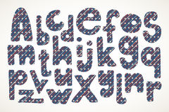 Письма нарисованные рукой в американской картине государственный флаг сша Стоковая Фотография RF