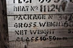 Письма на деревянной коробке стоковая фотография rf