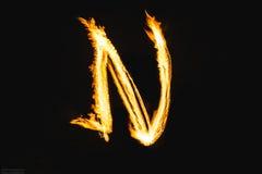 Письма огня стоковое изображение rf
